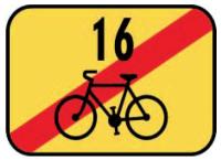 Dopravní značka: IS 21d Konec cyklistické trasy