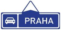 Dopravní značka: IS 2a Směrová tabule pro příjezd k silnici pro motorová vozidla (přímo)