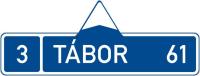 Dopravní značka: IS 3a Směrová tabule (s jedním cílem)