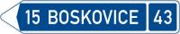 Dopravní značka: IS 3c Směrová tabule (s jedním cílem)