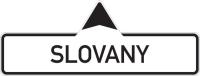 Dopravní značka: IS 4a Směrová tabule (s jedním místním cílem)