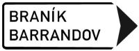 Dopravní značka: IS 4c Směrová tabule s místním cílem (vpravo)