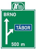 Dopravní značka: IS 6b Návěst před křižovatkou