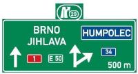 Dopravní značka: IS 6c Návěst před křižovatkou