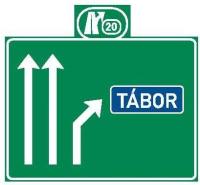 Dopravní značka: IS 6d Návěst před křižovatkou