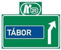 Dopravní značka: IS 6f Směrová návěst před odbočením