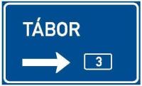 Dopravní značka: IS 7a Směrová návěst pro odbočení