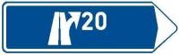 Dopravní značka: IS 7b Směrová tabule pro výjezd