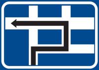 Dopravní značka: IS 9e Návěst před křižovatkou s omezením
