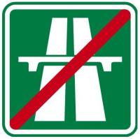 Dopravní značka: IZ 1b Konec dálnice