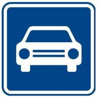 Dopravní značka: IZ 2a Silnice pro motorová vozidla