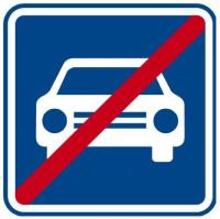 Dopravní značka: IZ 2b Konec silnice pro motorová vozidla