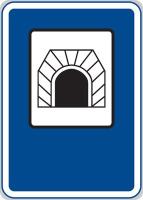 Dopravní značka: IZ 3a Tunel
