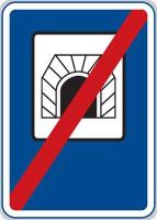 Dopravní značka: IZ 3b Konec tunelu