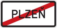 Dopravní značka: IZ 4b Konec obce