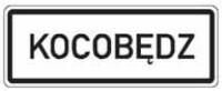 Dopravní značka: IZ 4c Obec v jazyce národnostní menšiny