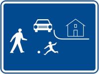 Dopravní značka: IZ 5a Obytná zóna