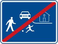 Dopravní značka: IZ 5b Konec obytné zóny