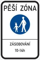 Dopravní značka: IZ 6a Pěší zóna