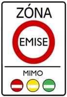 Dopravní značka: IZ 7a Emisní zóna