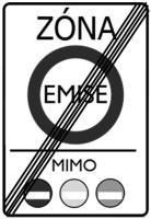 Dopravní značka: IZ 7b Konec emisní zóny
