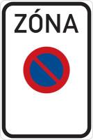 Dopravní značka: IZ 8a Zóna s dopravním omezením