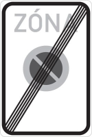 Dopravní značka: IZ 8b Konec zóny s dopravním omezením