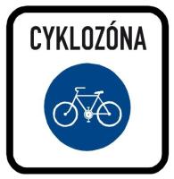 Dopravní značka: IZ 9a Zóna pro cyklisty