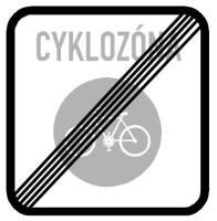Dopravní značka: IZ 9b Konec zóny pro cyklisty