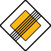 Dopravní značka: P 3 Konec hlavní pozemní komunikace