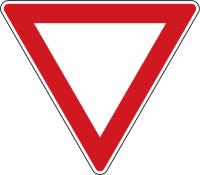Dopravní značka: P 4 Dej přednost v jízdě!