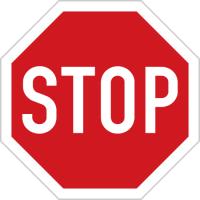 Dopravní značka: P 6 Stůj, dej přednost v jízdě!