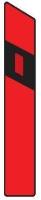Dopravní značka: Z 11c Směrový sloupek červený levý