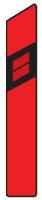 Dopravní značka: Z 11d Směrový sloupek červený pravý