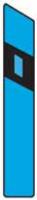 Dopravní značka: Z 11e Směrový sloupek modrý levý