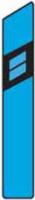 Dopravní značka: Z 11f Směrový sloupek modrý pravý