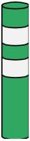 Dopravní značka: Z 11h Směrový sloupek zelený kulatý – baliseta