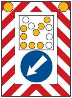 Dopravní značka: Z 7 Pojízdná uzavírková tabule