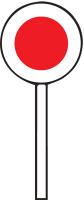 Dopravní značka: Z 8a Zastavovací terč (pro policisty)