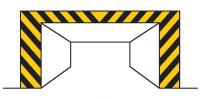 Dopravní značka: Z 9 Žluté a černé pruhy
