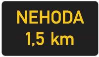 Dopravní značka: ZPI 1 Nápisy