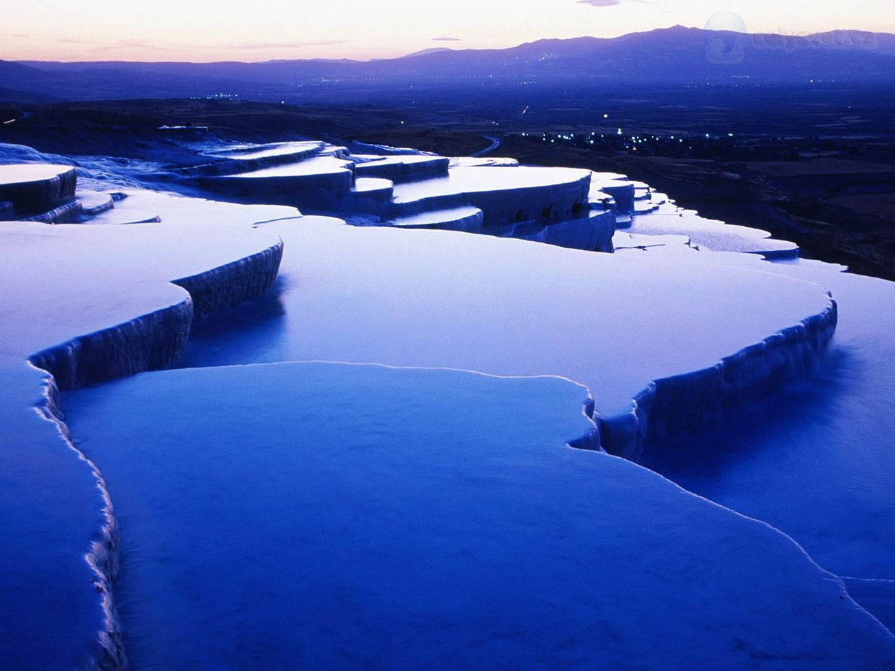 Thermal Springs, Pamukkale, Turecko / Thermal Springs ... 10 Most Beautiful Places In The World