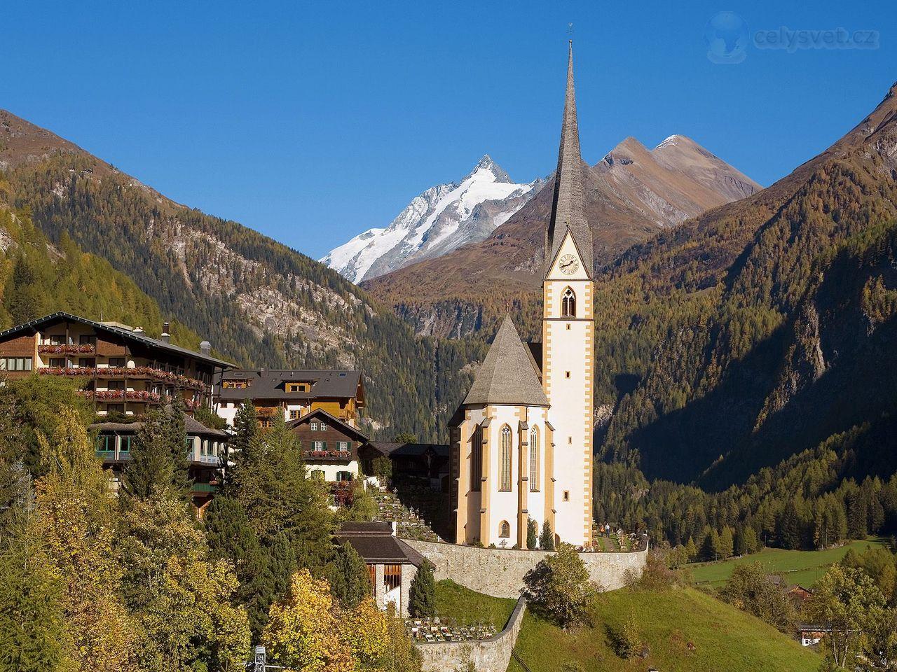 Heiligenblut Austria  city pictures gallery : ... Alpách, Rakousko / Heiligenblut Village In High Alps, Austria